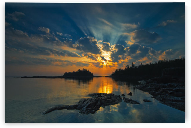 Sunrise On Georgian Bay, Fathom Five National Marine Park, Ontario. by PacificStock