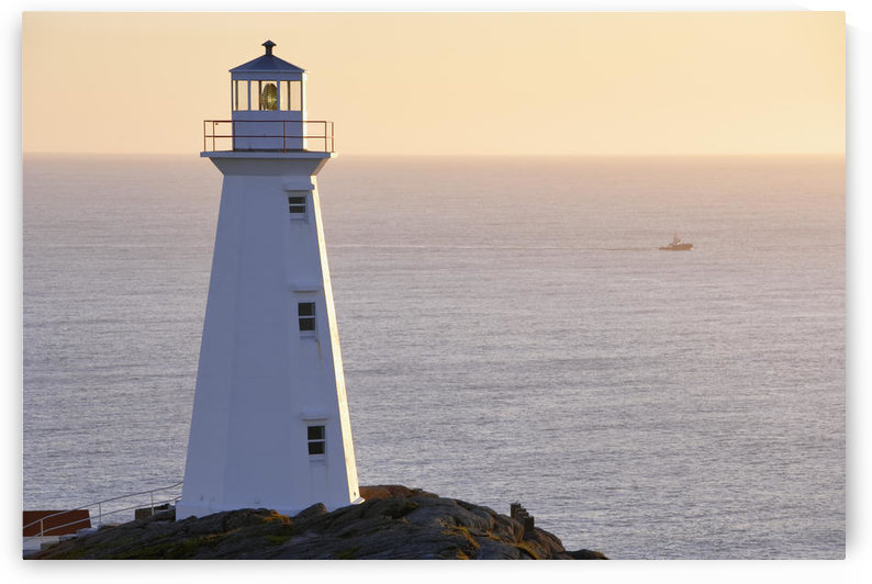 Cape Spear Lighthouse At Sunrise, Cape Spear National Historic Site, Avalon Peninsula, Newfoundland by PacificStock