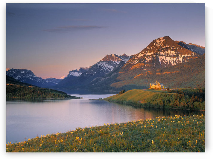 Prince Of Wales Hotel And Middle Waterton Lake, Waterton Lakes National Park, Alberta, Canada by PacificStock