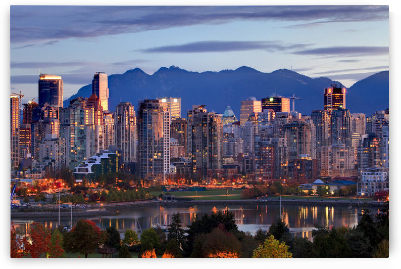 View Of Skyline With Yaletown, False Creek And North Shore Mountains, Site Of 2010 Winter Olympics, Vancouver, British Columbia by PacificStock