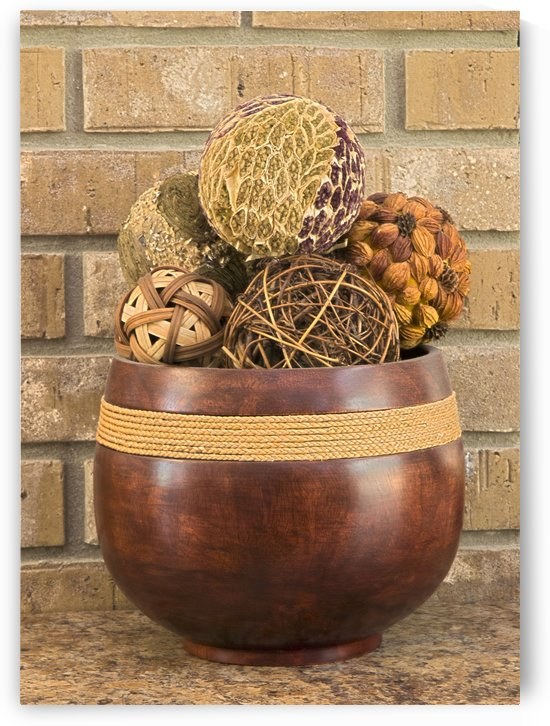 HDR Wooden bowl with brick backround by PJ Lalli