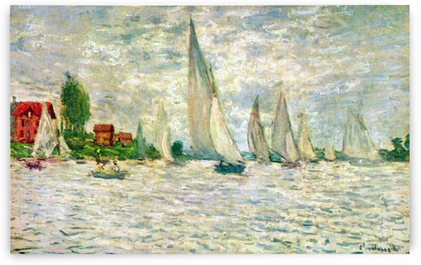 Sailboats, regatta in Argenteuil by Monet by Monet