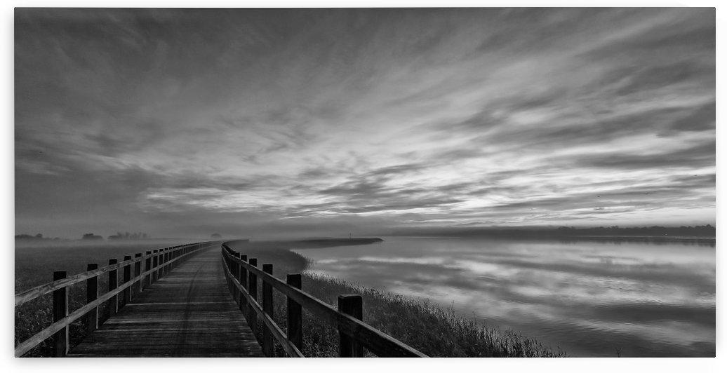 The long wooden footbridge. Dark version. by 1x