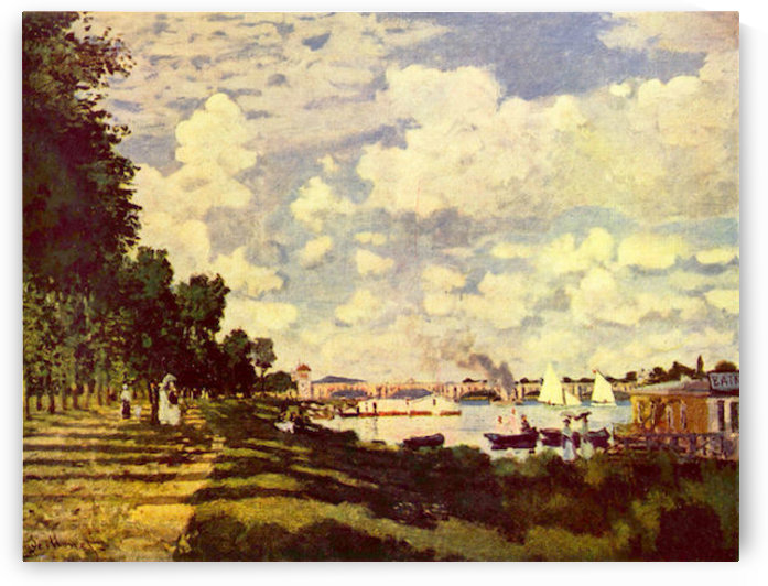 Sailing at Argenteuil by Monet by Monet