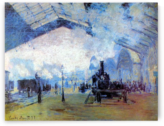 Saint Lazare station in Paris by Monet by Monet
