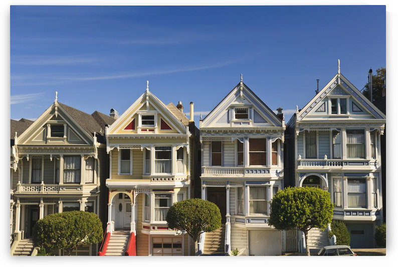 Victorian Style Homes Near Alamo Square; San Francisco California United States Of America by PacificStock