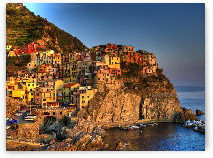 Sunset On Manarola, Italy by PacificStock