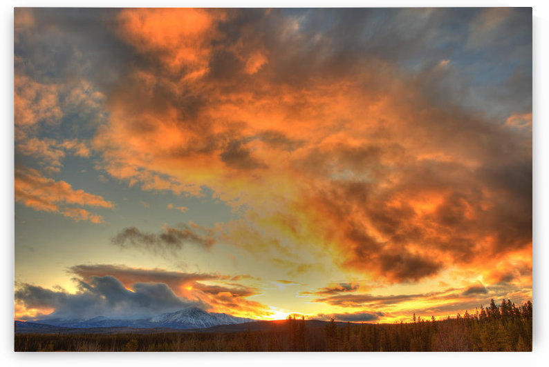 Sunset Over Dawson Peaks, Teslin, Yukon by PacificStock