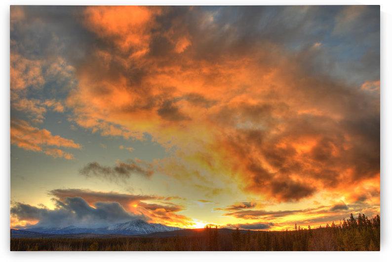 Sunset Over Dawson Peaks, Teslin, Yukon by PacificStock