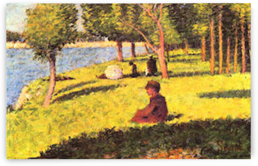 Seated figure by Seurat by Seurat