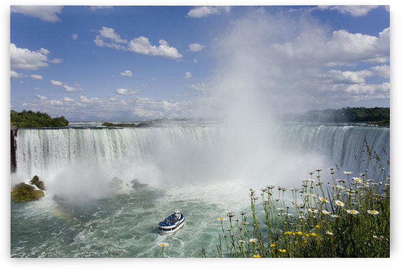 Horseshoe Falls With Maid Of The Mist Boat, Niagara Falls, Ontario, Canada by PacificStock