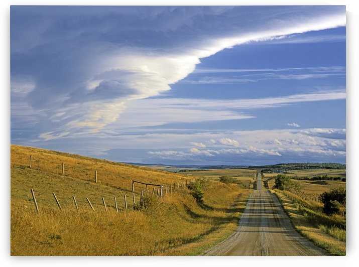 Chinook Arch Over Rangeland, Near Cochrane, Alberta, Canada by PacificStock