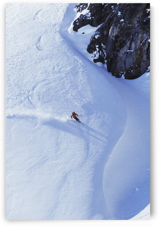 Young Man Skiing On Ungroomed Slope Near Fortress Mountain, Alberta, Canada. by PacificStock