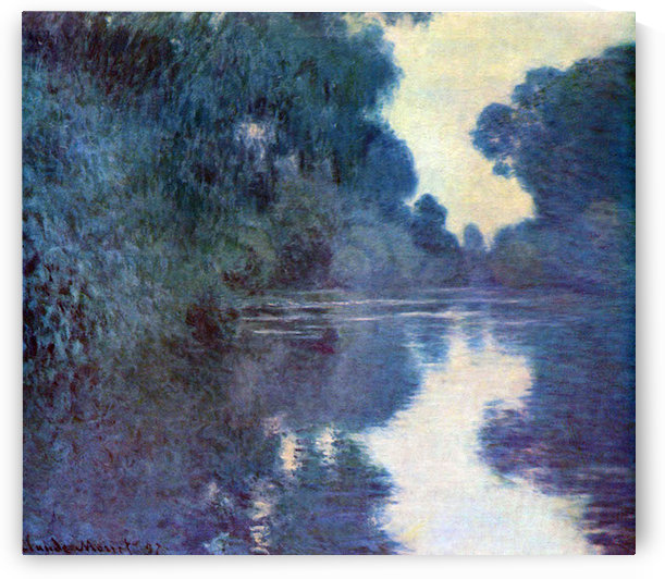 Seine bend in Giverny by Monet by Monet