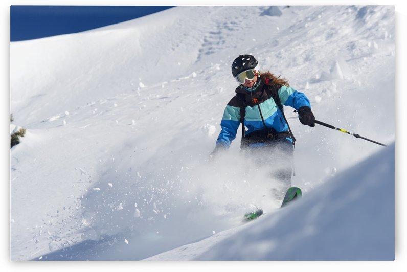 Skiing in powder snow; St. Moritz, Graubunden, Switzerland by PacificStock