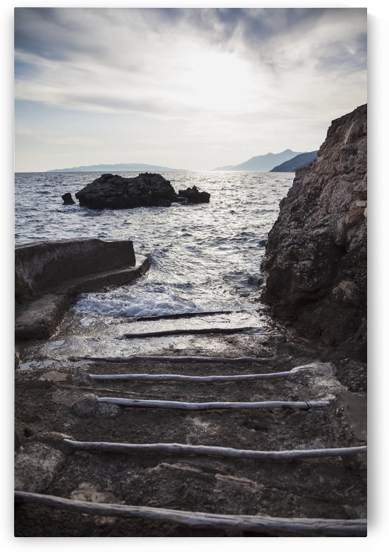 A small boat ramp along the Borak coast, near Trpanj; Borak, Croatia by PacificStock