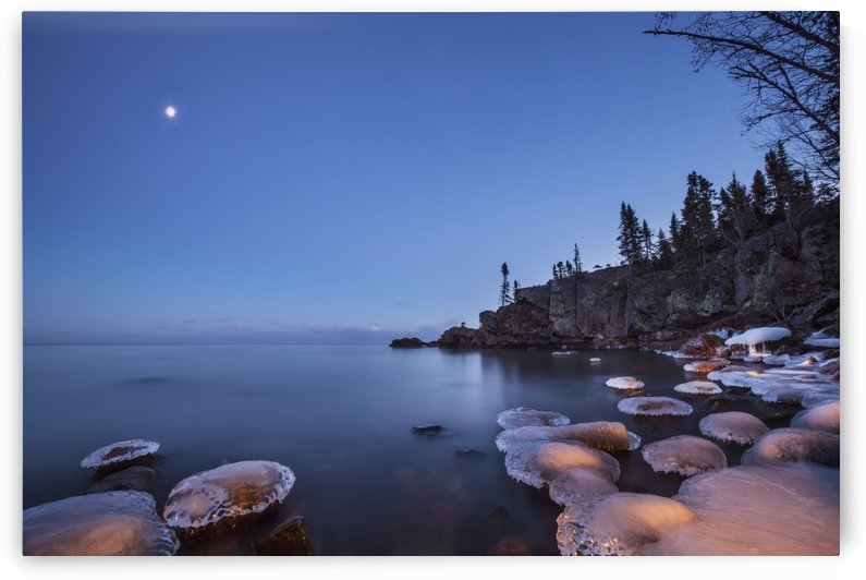 Lake superior at dusk; Thunder Bay, Ontario, Canada by PacificStock