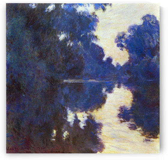 Seine in Morning #2 by Monet by Monet