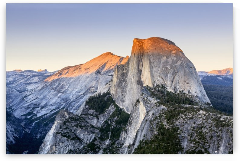 Half Dome at sunset from Glacier Point, Yosemite National Park; California, United States of America by PacificStock