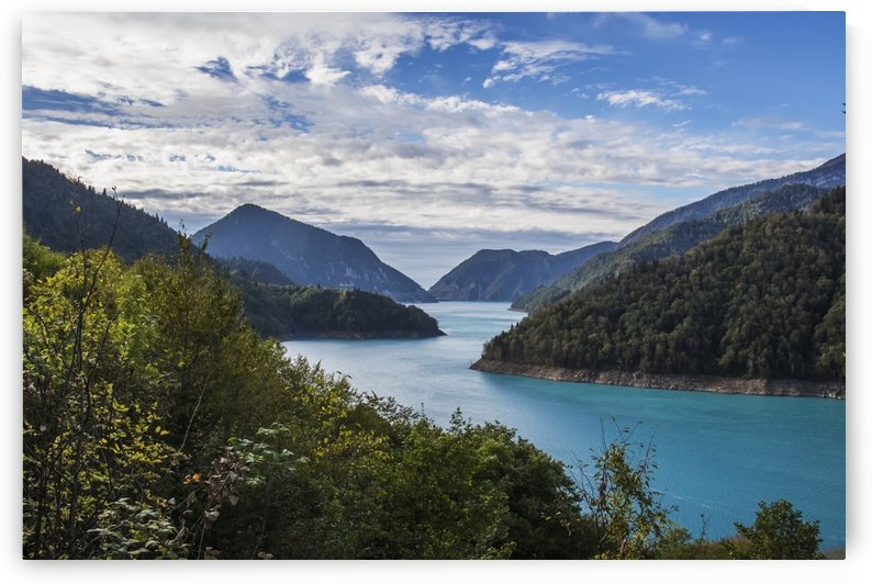 Inguri hydroelectric dam; Samegrelo-Zemo Svaneti, Georgia by PacificStock