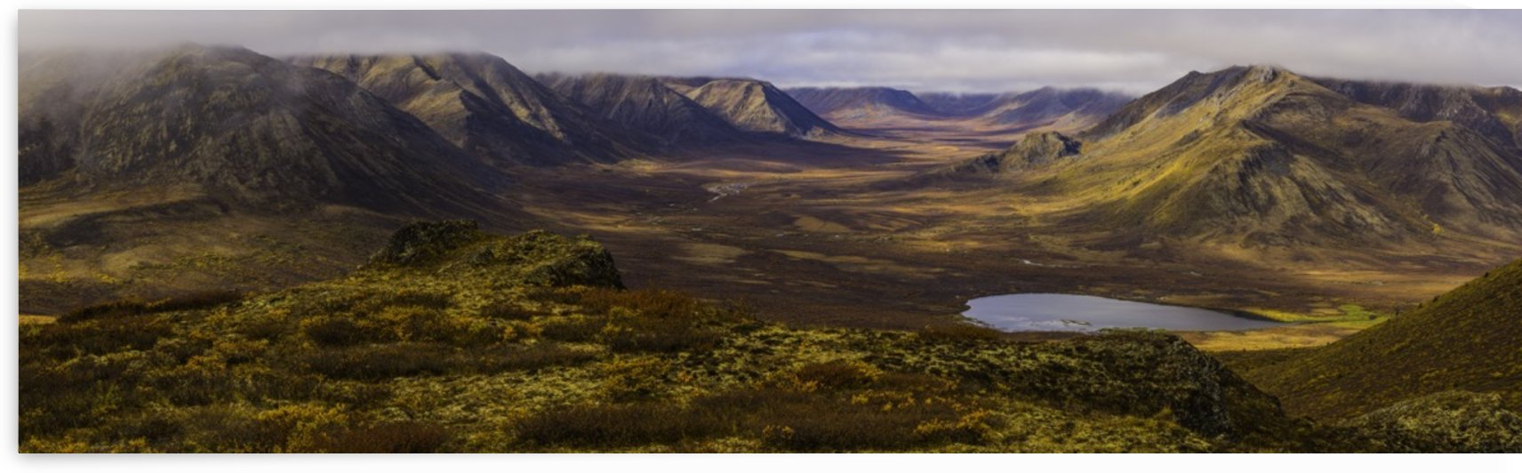 Panoramic image of the Blackstone Valley in autumn colours along the Dempster Highway; Yukon, Canada by PacificStock