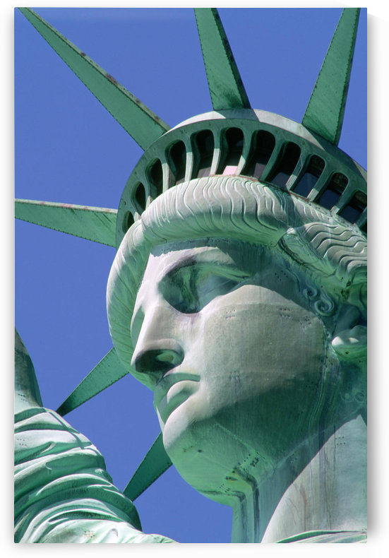 R.Watts; Close-Up Of Head Of Statue Of Liberty, Manhattan, New York, Ny, Usa by PacificStock