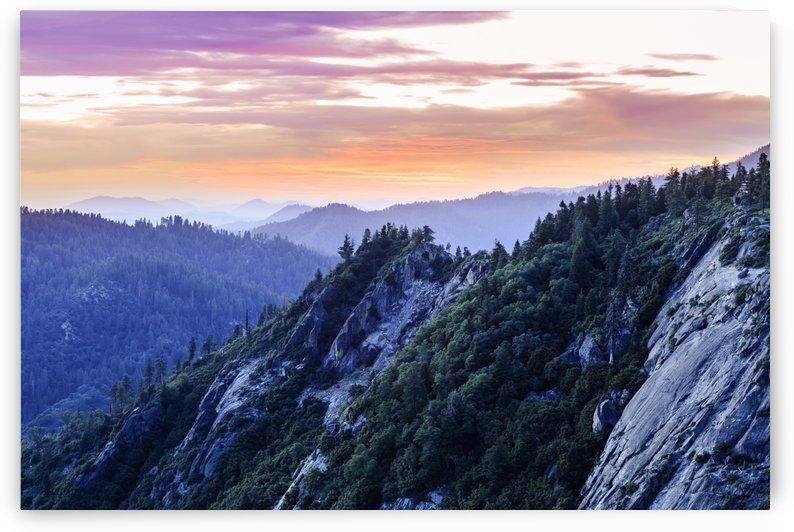View from Moro Rock at dusk, Sequoia National Park; California, United States of America by PacificStock
