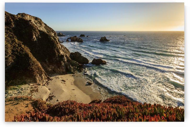 Cliffs along Big Sur coastline near Rocky Creek Bridge on Highway One; California, United States of America by PacificStock