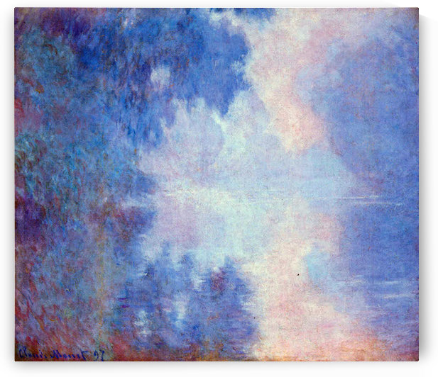 Seine in Morning by Monet by Monet