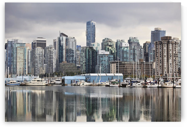 City Skyline And Coal Harbour; Vancouver British Columbia Canada by PacificStock