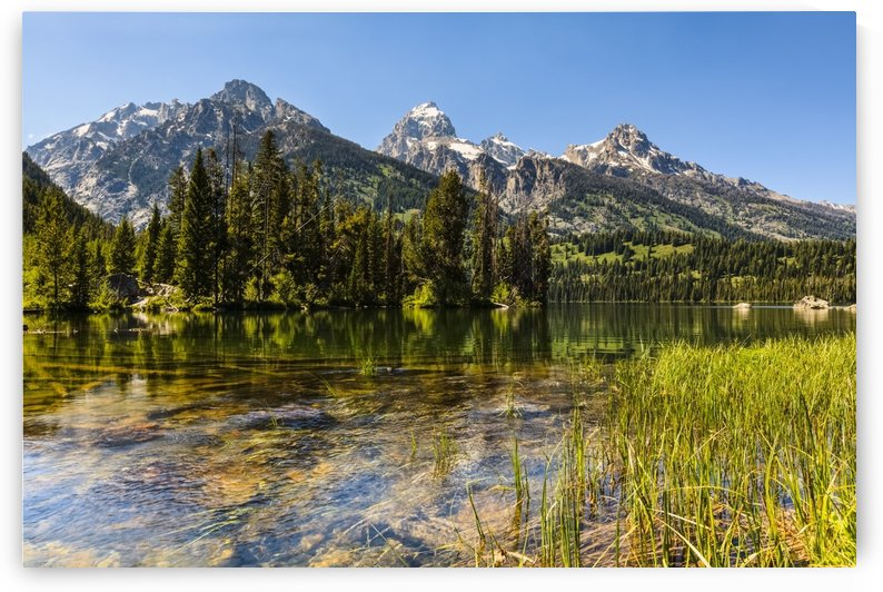 Taggart Lake and Grand Teton, Grand Teton National Park; Wyoming, United States of America by PacificStock