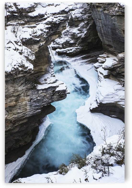 Athabasca Falls in winter, Jasper National Park; Alberta, Canada by PacificStock