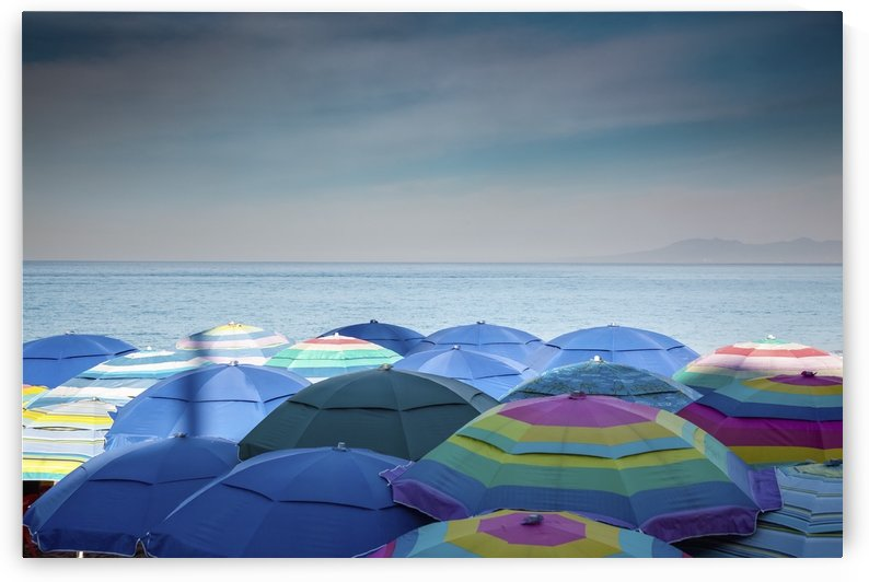 Beach umbrellas, Los Muertos Beach, Bay of Banderas; Puerto Vallarta, Mexico by PacificStock