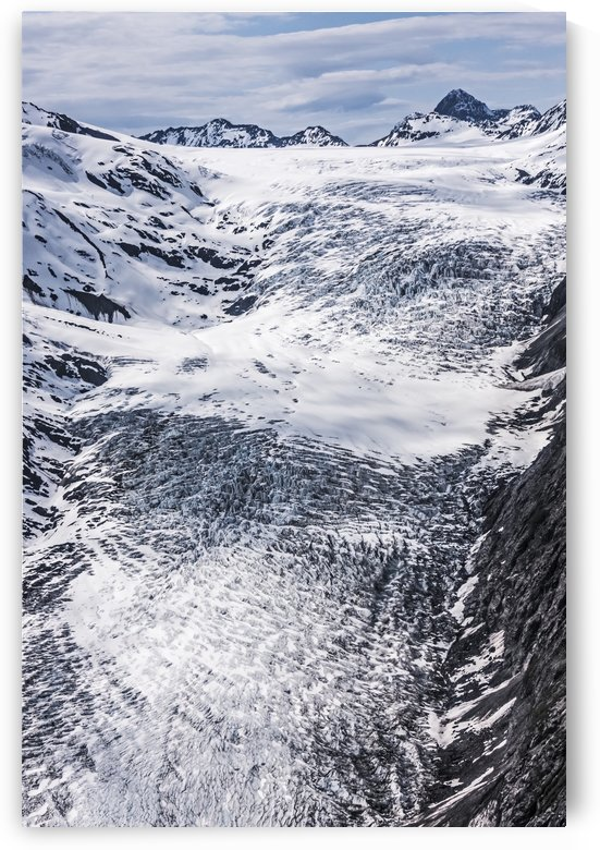Aerial view of Whiteout Glacier in the Chugach Mountains near Anchorage, Chugach State Park; Alaska, United States of America by PacificStock
