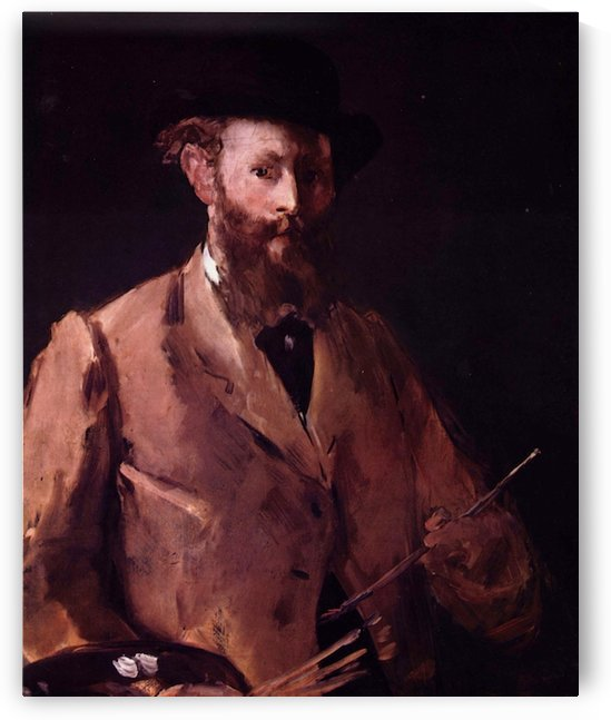 Self Portrait with Pallette by Manet by Manet