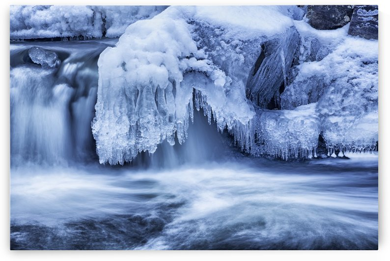 Winter cascades; Enfield, Nova Scotia, Canada by PacificStock