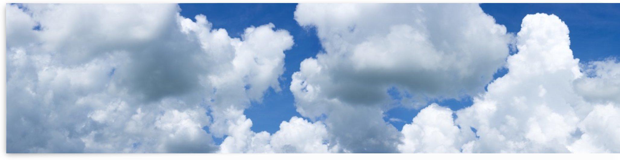 Clouds in a blue sky; Alberta, Canada by PacificStock