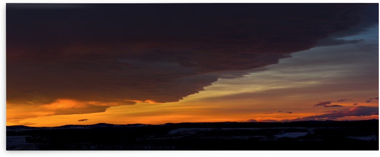 Dramatically glowing Chinook cloud formation at sunrise; Calgary, Alberta, Canada by PacificStock