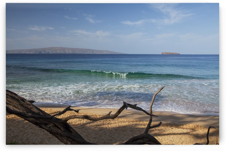 View of Kahoolawe and Molokini Islands from Little Beach at Makena Beach State Park; Maui, Hawaii, United States of America by PacificStock