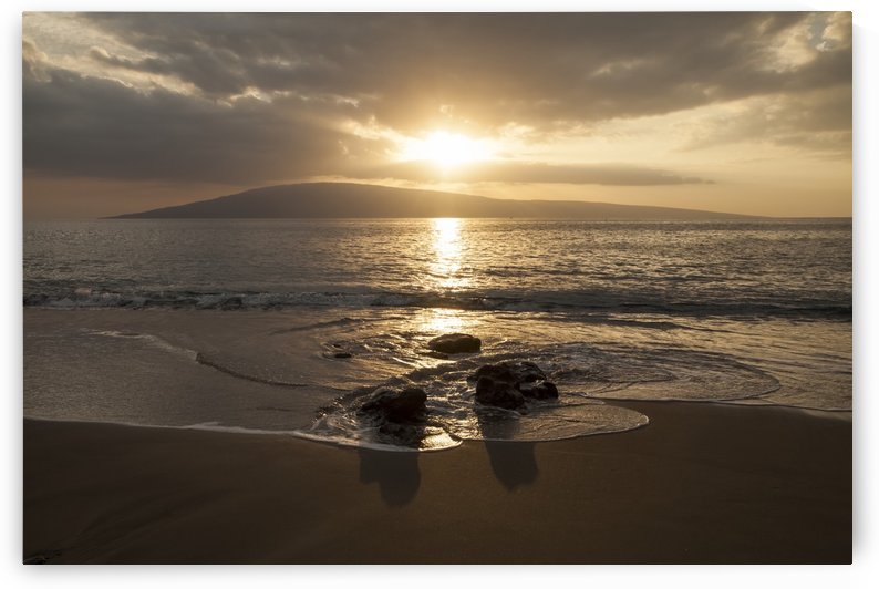 Sunset over Lanai Isle; Lahaina, Maui, Hawaii, United States of America by PacificStock