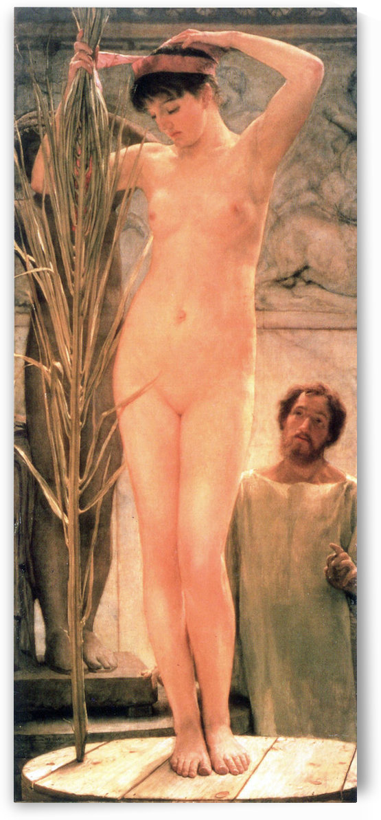 The model of a sculptor (Venus Esquilina) by Alma-Tadema by Alma-Tadema