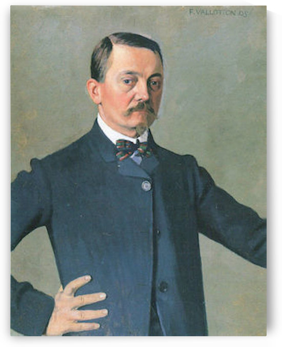 Self-Portrait by Felix Vallotton by Felix Vallotton