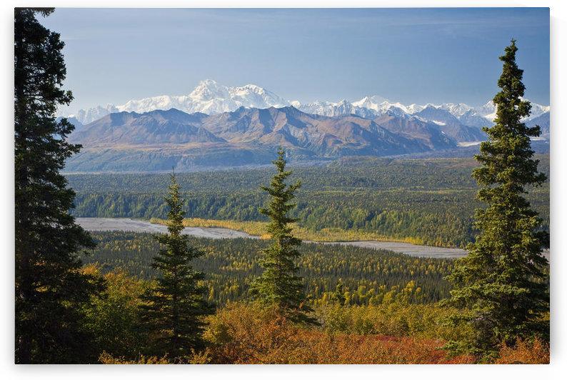 Scenic View Of Alaska Range And Eldridge Glacier, Autumn, Southcentral, Alaska by PacificStock