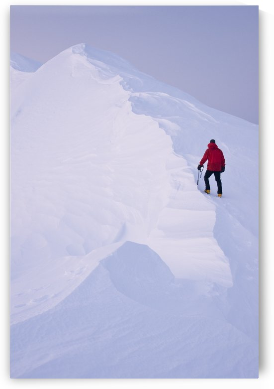 Climber Acsends A Unnamed Peak At Sunset, Prince William Sound, Chugach National Forest, Alaska by PacificStock