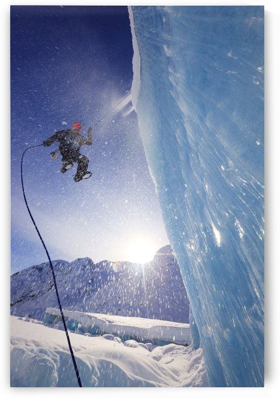 Ice Climber Climbing Shakes Glacier, Stikine-Leconte Wilderness, Tongass National Forest, Southeast Alaska by PacificStock