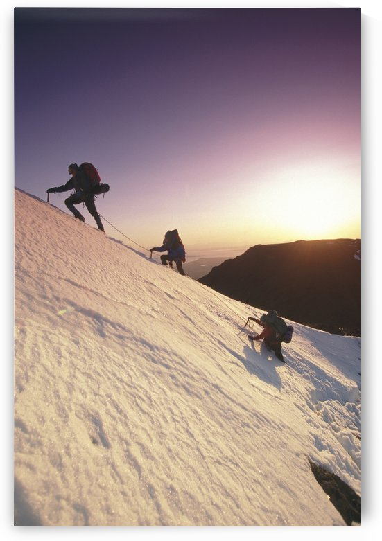 Mountain Climbers @ Sunset Chugach Mts Southcentral Ak by PacificStock