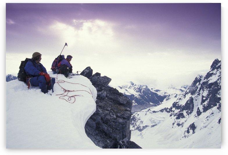 Climbers @ Summit Alaska Range Denali Np In Ak by PacificStock