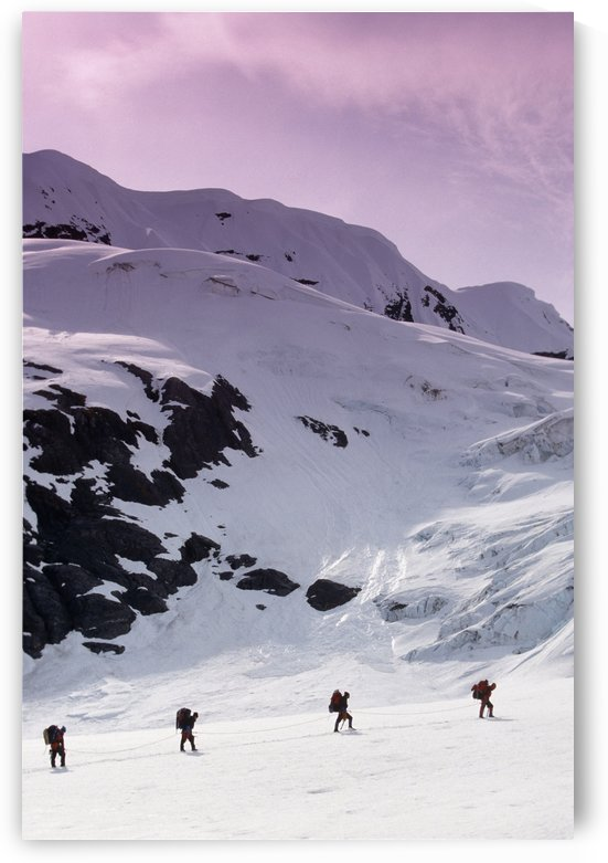Mountain Climbers Byron Glacier Southcentral Alaska Spring by PacificStock