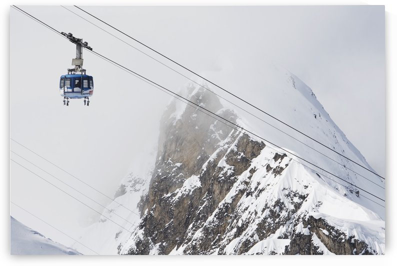 Scenic view of the Titlis Rotair revolving circular tram at Engelberg Resort in Switzerland by PacificStock