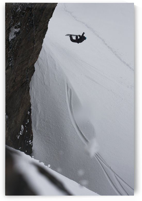 Professional snowboarder making an extreme jump of a vertical wall near Ushuaia, Patagonia, Argentina, South America by PacificStock
